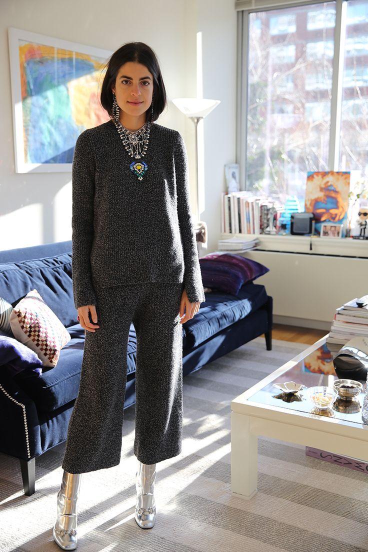 Leandra Medine wearing inseparable separate knits