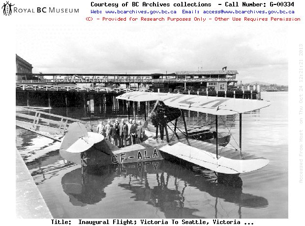 First harour to harbour flight from Victoria to Seattle 1932 #yyj