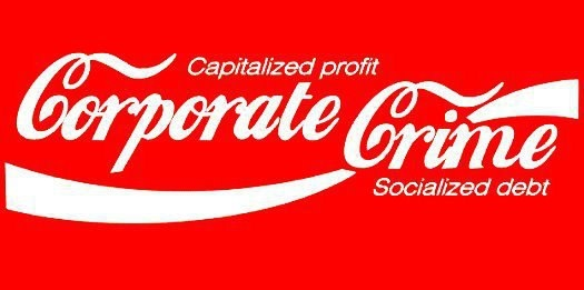 Capitalized profit corporate crime socialized debt | Anonymous ART of Revolution