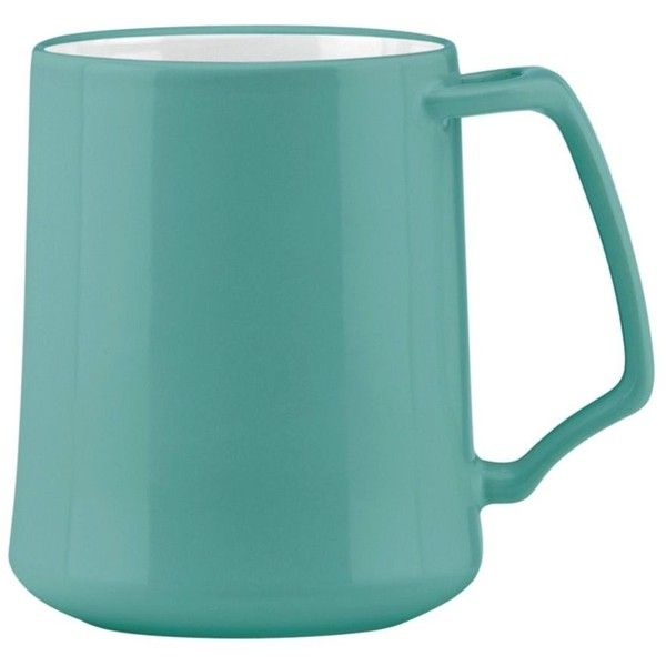 Dansk Kobenstyle Teal Mug By ($9.99) ❤ liked on Polyvore featuring home, kitchen & dining, drinkware, coffee & tea cups, coffee mugs and dansk