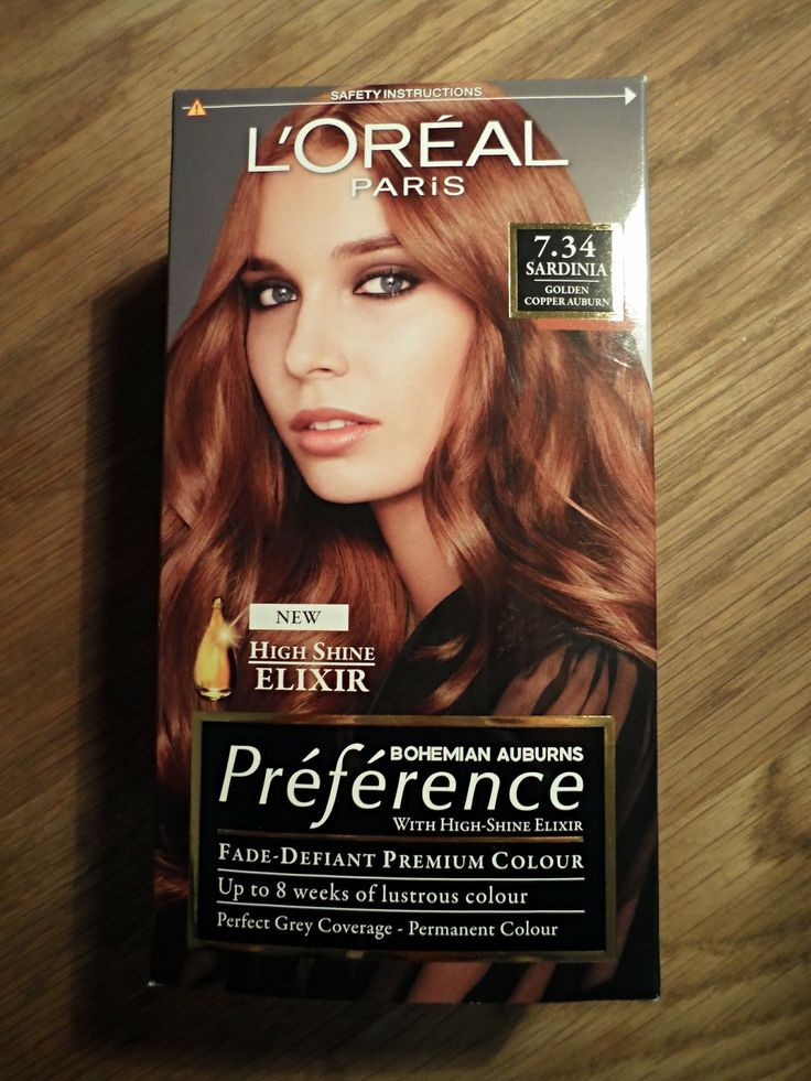 Elbel Beauty: L'Oreal Preference Sardinia 7.34 Golden Copper Auburn Hair Dye