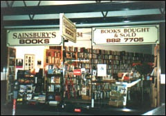 Sainsbury's Books; selling second hand books in three locations in Melbourne (Camberwell; Carlton and also in the CCP)
