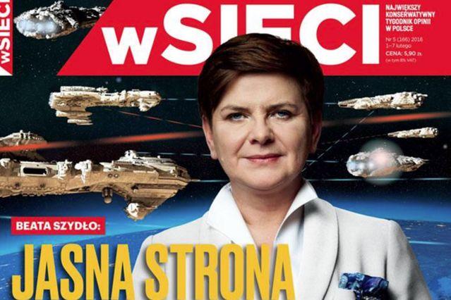 """W tygodniku braci Karnowskich prawdziwy kosmos. Premier Szydło, statki kosmiczne i """"jasna strona mocy"""""""