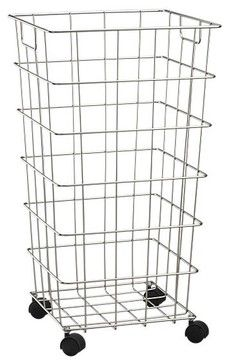 Wire Hamper With Wheels contemporary-hampers