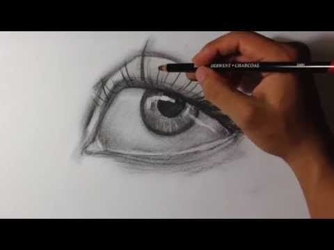 How to Draw with Charcoal Pencils - Landscape Sketching - YouTube