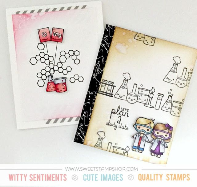 Play Date Invitation Cards created by designer Samantha Mann using the Sweet Stamp Shop Elements stamp set #ssselements