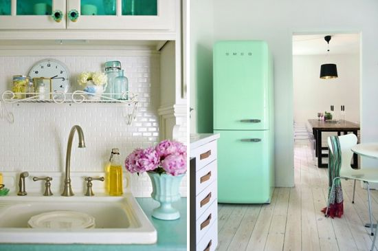 Mint kitchen | At Home in Love