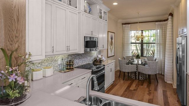 Cozy Kitchen Design The Berkshire Model Home At Riverstone Naples Florida Glhomes
