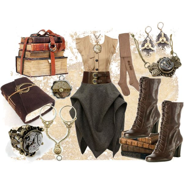 Outfit (Steam Punk)Everyday Steampunk Fashion, Style, Halloween Costumes, Steampunk Outfit, Steampunk Librarians, Steam Punk, Steampunk Everyday Fashion, The Dresses, Costumes Ideas