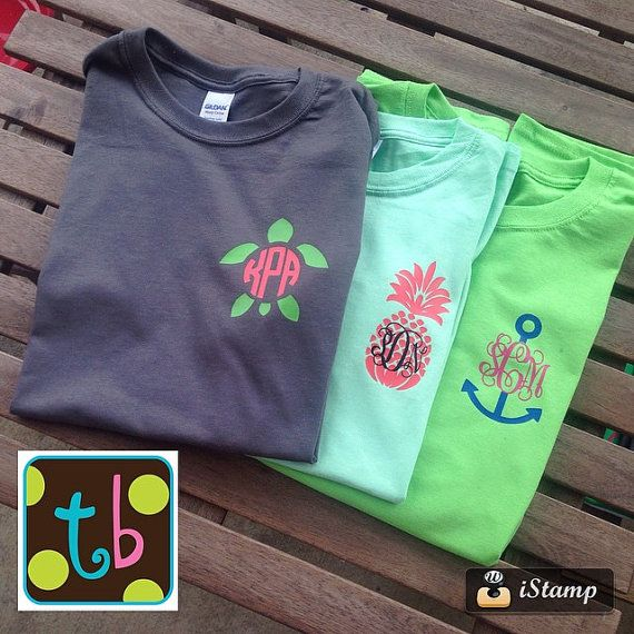 Spring 2015 Monogram Tee Design Personalized by Tootlebugs on Etsy