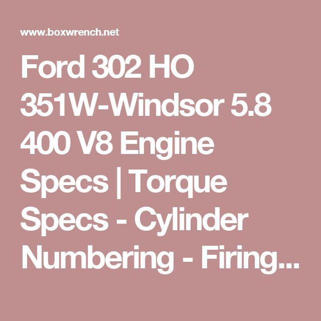 Ford 302 Ho 351w