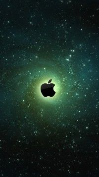 Apple Logo On Galaxy Background iPhone 5(s) Wallpaper >>> Click for original size <<<