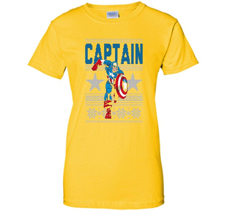 Captain America Star Ugly Christmas Sweater Graphic T-Shirt