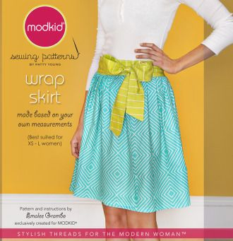 WRAP SKIRT by MODKID | Sewing Pattern |  YouCanMakeThis.com