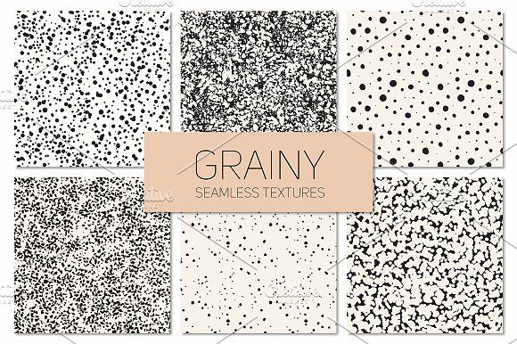 Grainy Seamless Textures by Curly_Pat on @creativemarket