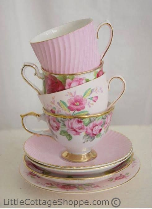 this is going to probably be my next tattoo... from my nonnie, nana to my mom's love of tea and to izzy and her love of tea parties, seems like a nice homage. love the balancing of them all...