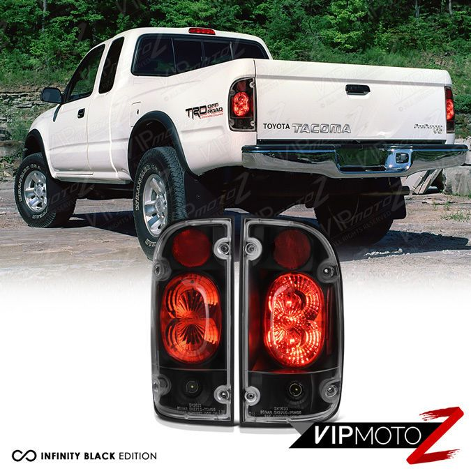 Details About For 01 04 Toyota Tacoma 2 4wd Trd Pickup Black Tail Light Brake Signal Lamp L R Truck