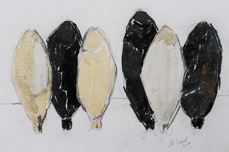 Dedikodu, 2015, 47x37cm, Canson kağıdı üzerine toz pastel
