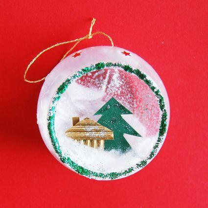 Boule Noël : Boule de noël paillettée ouverte en pot plastique à dessert - Noël Tête à modeler ...