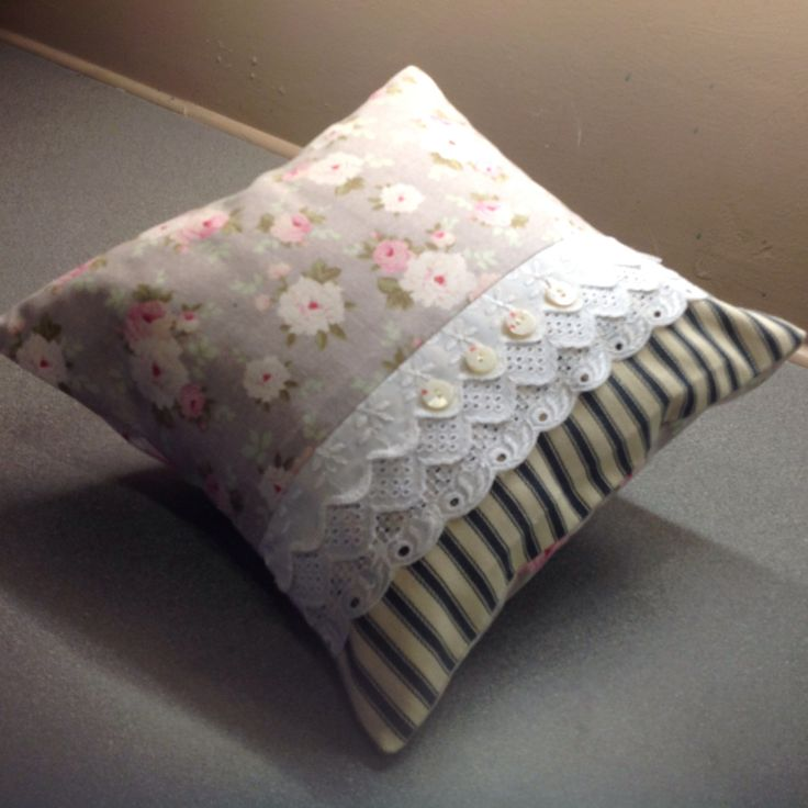 Shabby chic cushion. Kay Horne