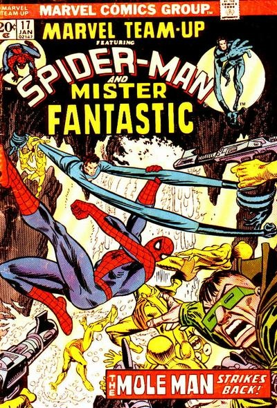 Marvel Team-Up #17 Featuring Spider-Man and Mister Fantastic Marvel Comics Group January 1974 $.20