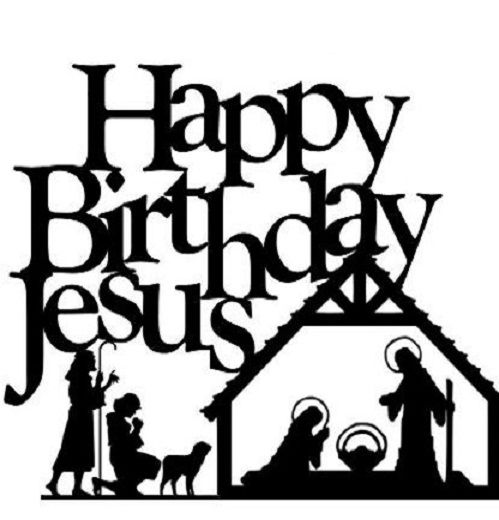 Happy Birthday Jesus Clip Art Christmas Printables Nativity