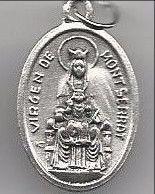 Virgen de Montserrat Oxidized Medal