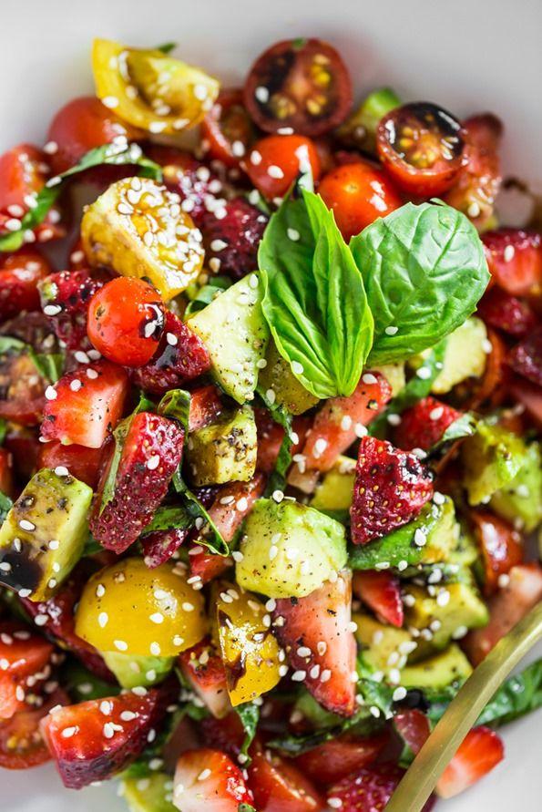 Avocado Strawberry Caprese — Oh She Glows