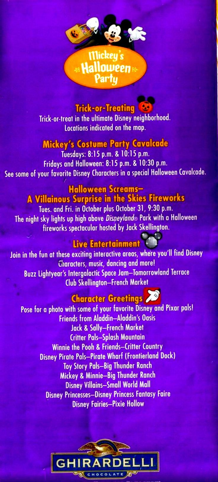 22 best Mickey's Not So Scary Halloween Party images on Pinterest