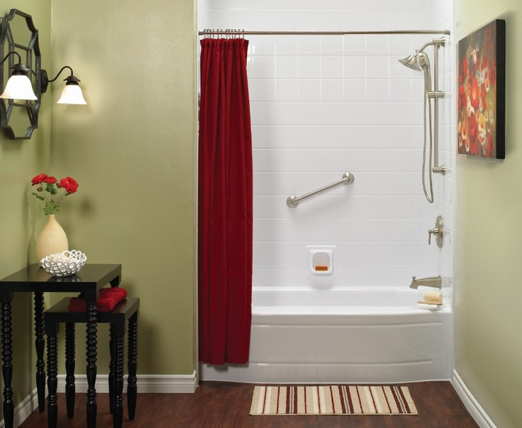 Bath Er With Red Accents