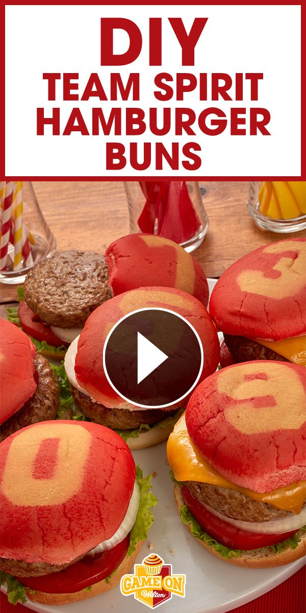 Learn how to easily transform ordinary hamburger buns into team spirit buns with your favorite team's colors and numbers using Wilton Color Mist!