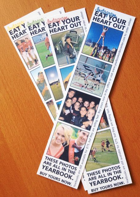 Instagram style photo strip to promote and market the yearbook.