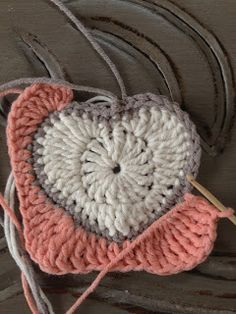Crochet Heart Granny Square - free pattern