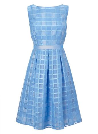 Organza Check Prom Dress