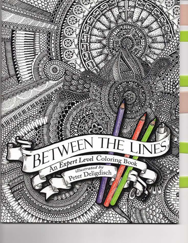Between The Lines An Expert Level Coloring Book Illustrated By Peter Deligdisch