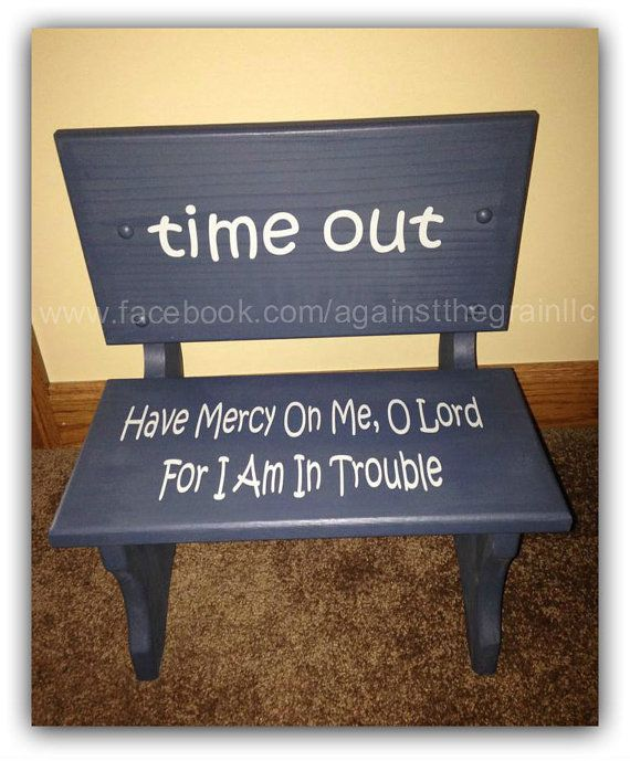 Handmade Wooden Toddler Time Out Chair Bench Childrens Learning Behavior Chair Seat Can Be