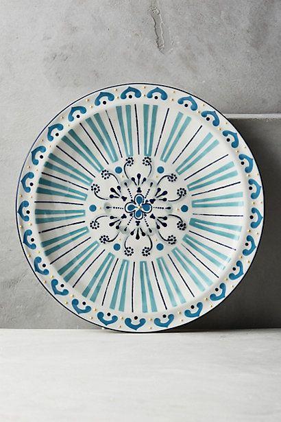 Anthropologie: lovely hand painted stoneware Aegean Dinnerware