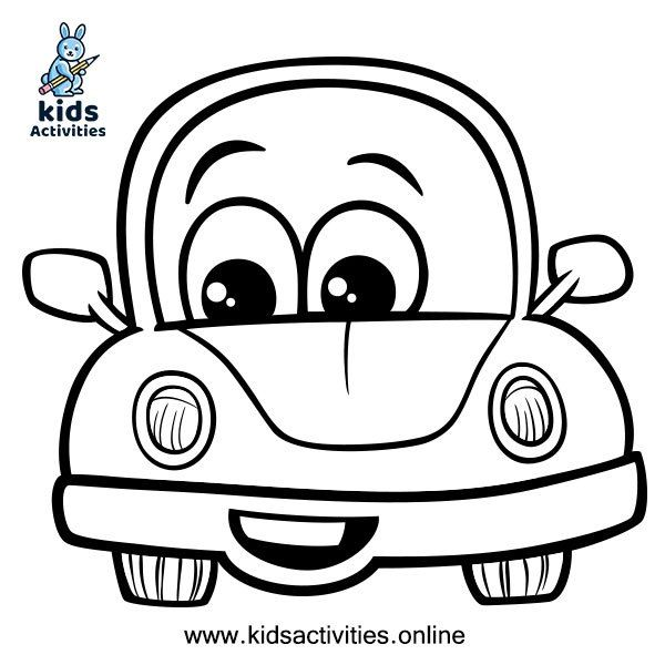 Free Printable Cute Car Coloring Pages For Kids Kids Activities Cars Coloring Pages Coloring Pages For Kids Tractor Coloring Pages