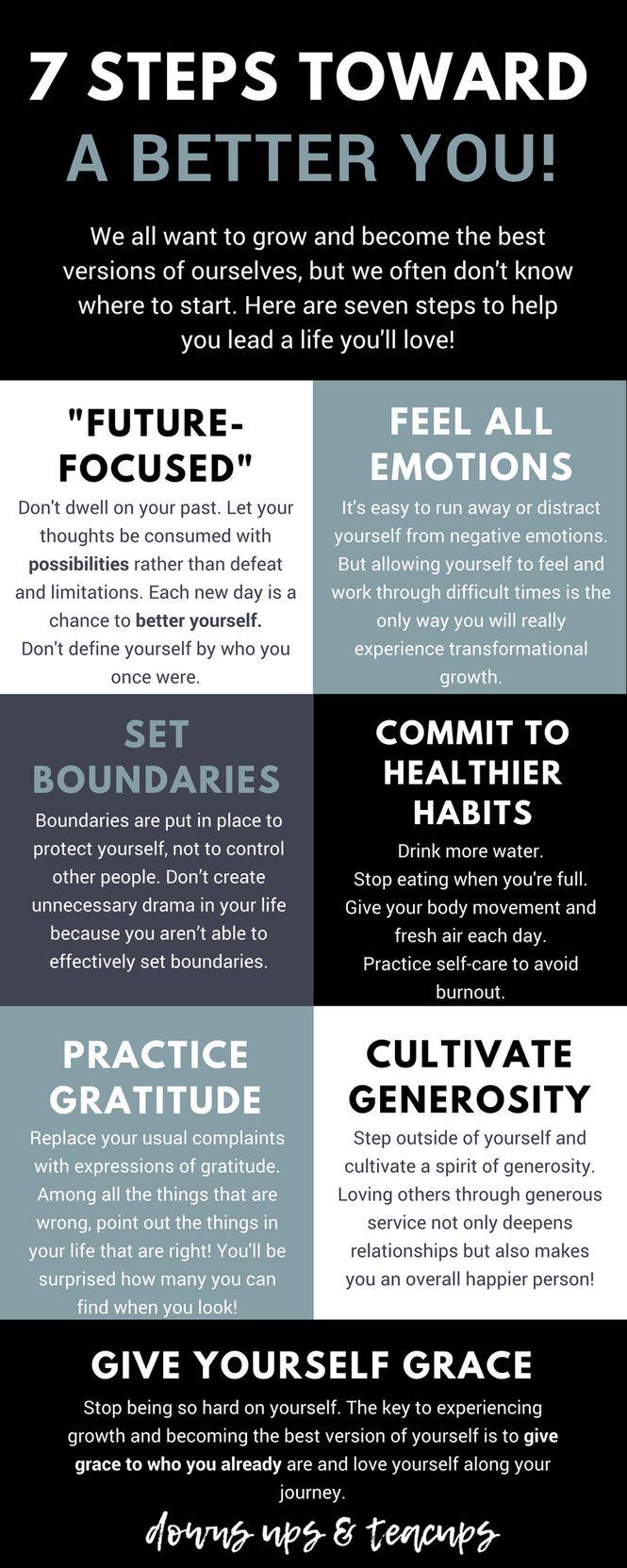 7 Steps Toward A Better You - Downs Ups & Teacups