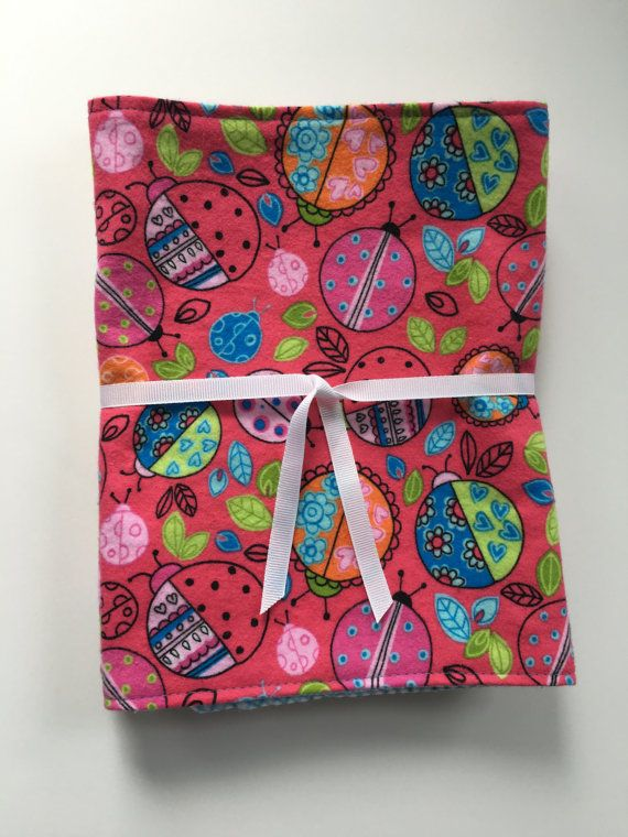 3-pk Ladybug Burp Cloths by 5BlueberryLane on Etsy