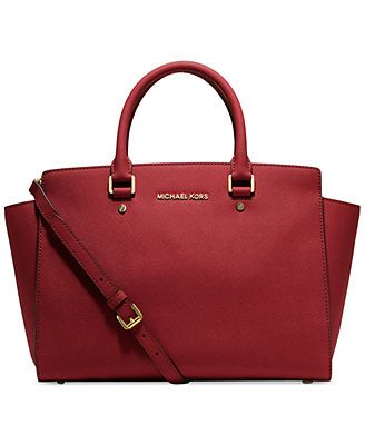 MICHAEL Michael Kors Handbag, Selma Large East West Satchel $358