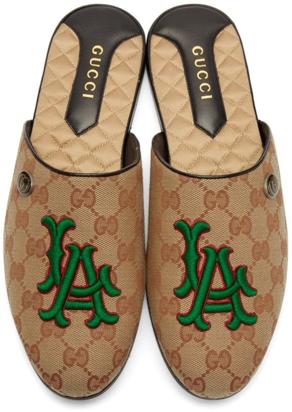 585fcd6a272 Gucci - Beige LA Dodgers Edition Flamel Patch Loafers