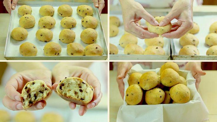 procedimento per i pangoccioli fatti in casa, dolci al cioccolato soffici e fragranti, ricetta senza burro, buonissimi per colazione e merenda