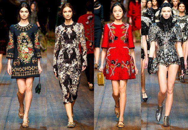 Dolce & Gabbana - 'Enchanted Sicily' - whimsicaly feminity - regal - Milan Fashion Week Fall 2014 Fashion Trends