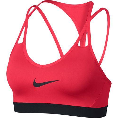 77ed7d0f3f323 Nike Women s Pro Indy Cooling Sports Bra (Light Fusion Red Black Sunblush