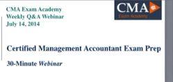 CMA Exam Prep Q&A Session - To watch my video click here: https://youtu.be/3IBUvGqQf9M or http://www.cmacoach.com/video-cma-exam-qa-session/