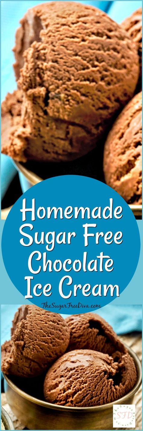 Homemade Sugar Free Chocolate Ice Cream- such an easy and tasty recipe for dessert or snacks