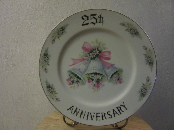 Hey, I found this really awesome Etsy listing at https://www.etsy.com/listing/256907942/25th-anniversary-dinner-plate-25th
