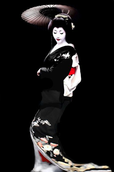Aiko-san, incredible blacks and perfect reds~: Geishas, Art, Beauty, Japanese, Maiko, Kimonos, Photo, Black
