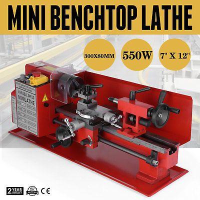 7 x 10  In Precision Mini Benchtop Lathe MIni Metal Machinery 110V 550W